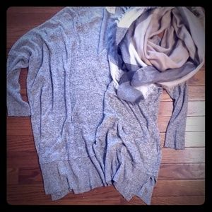 Oversized sweater & scarf